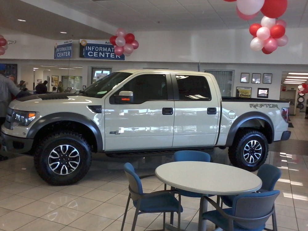 Ford F 150 Raptor Tinted On The Showroom Floor At