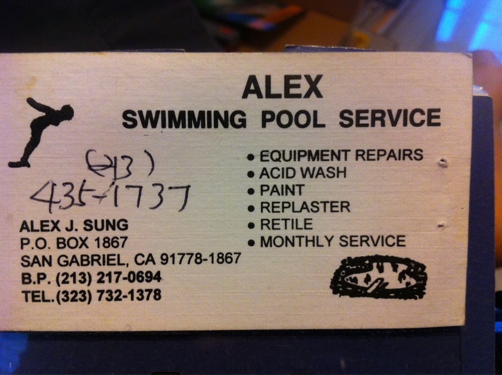 Alexs business card yelp photo of alex swimming pool service san gabriel ca united states alexs reheart Image collections