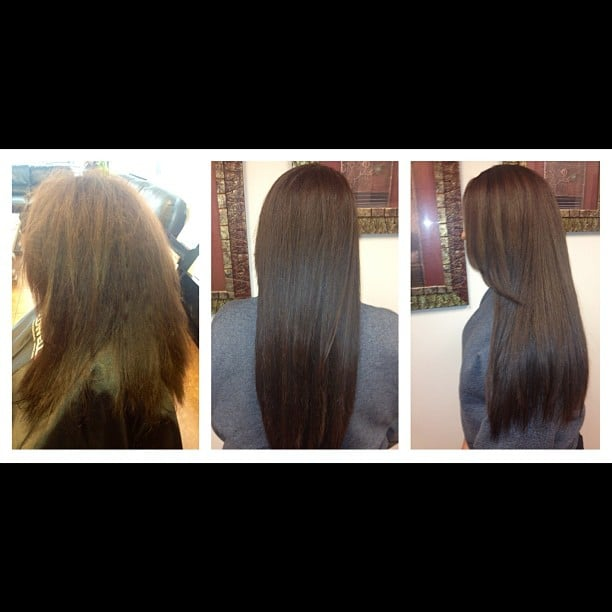 before and after. Color and hair treatment for dry brittle hair - Yelp