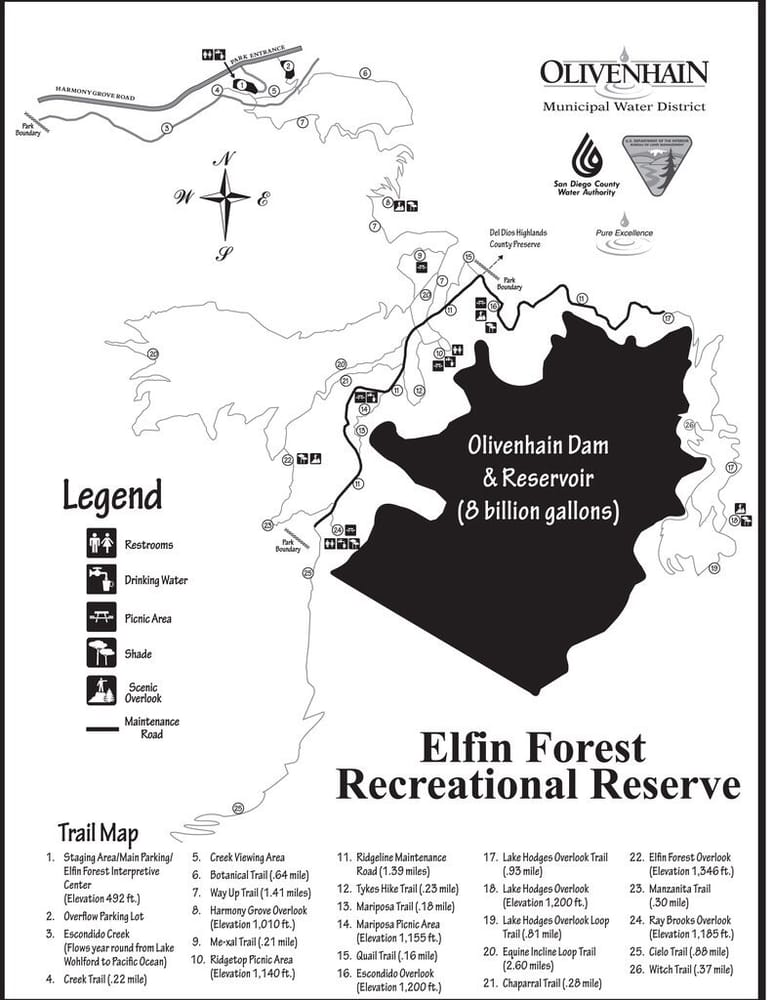 Elfin Forest Map  Yelp