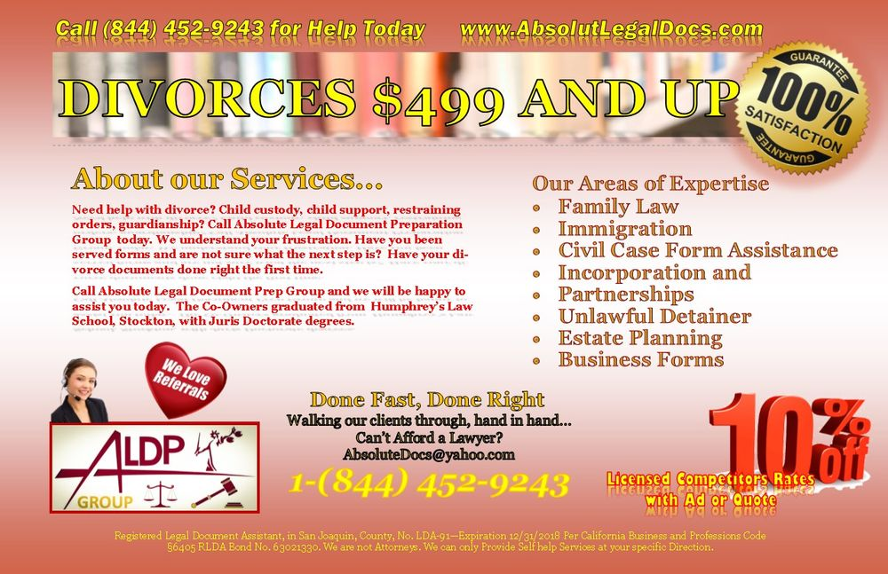 Absolute Legal Document Preparation Legal Services Quail - Help with legal forms