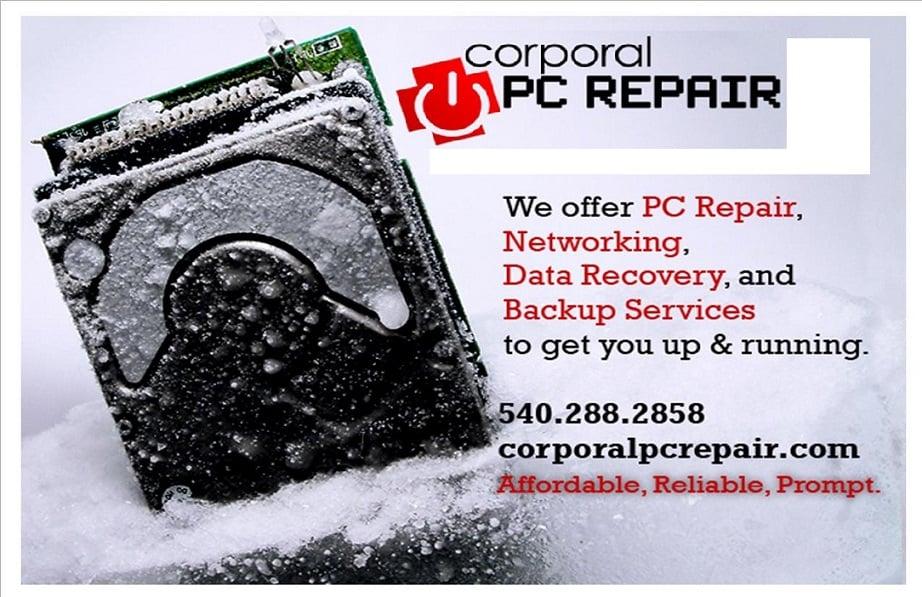 Corporal PC Repair: 1110 Aquia Dr, Stafford, VA