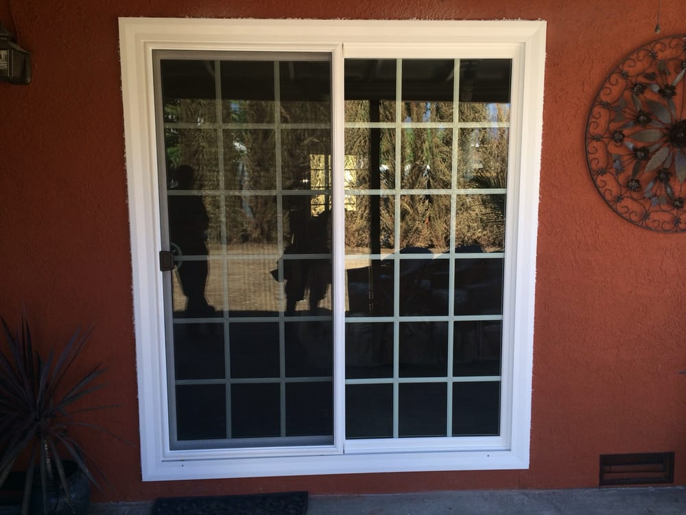 Sliding Glass Door With Colonial Grids Yelp