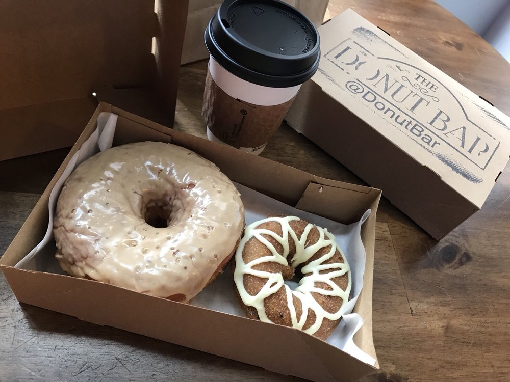 Coffee and donuts from Donut Bar, San Diego