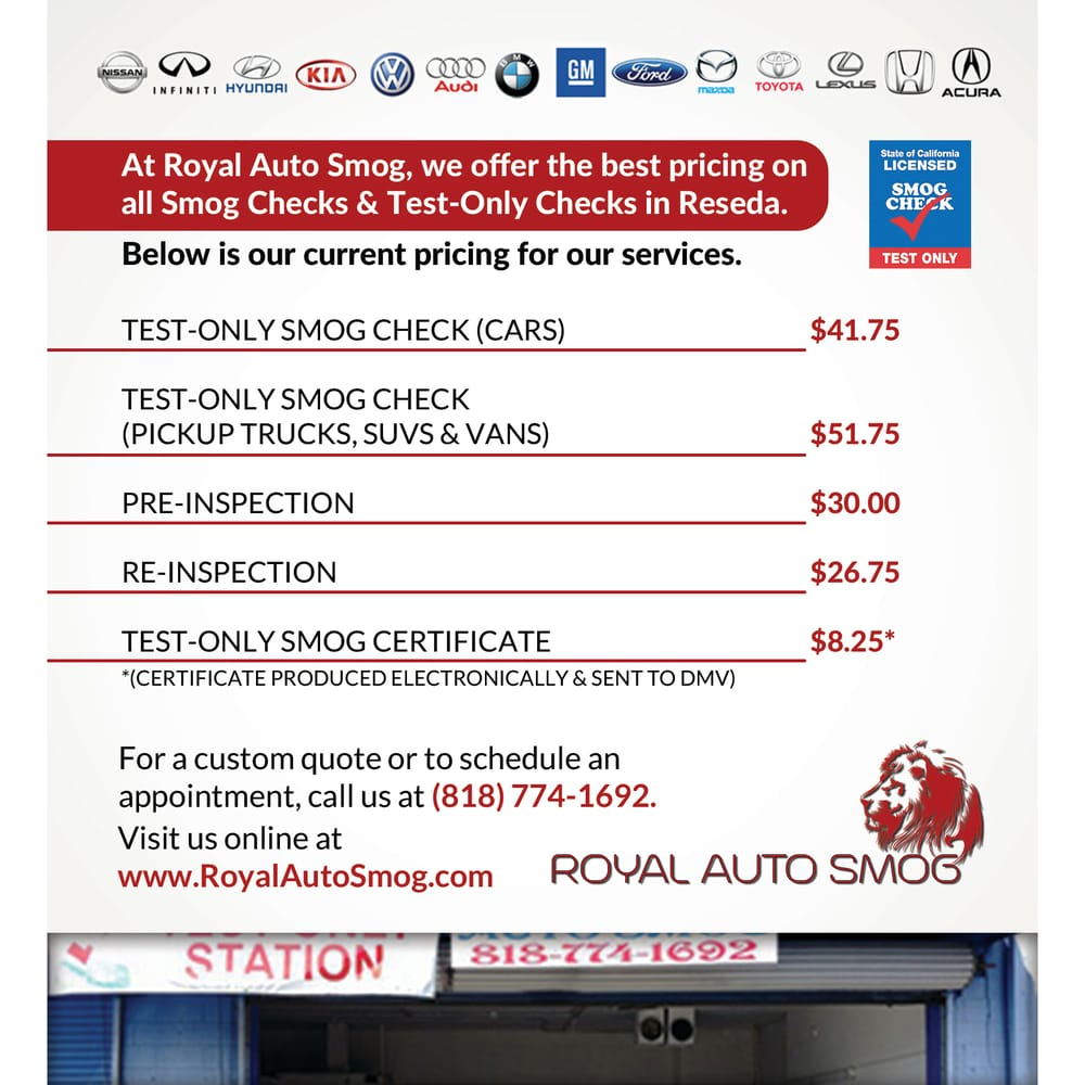 Cheap Smog test Reseda Test ly Smog Prices Yelp