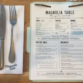 Magnolia Table Photos Reviews Breakfast Brunch - Magnolia table restaurant menu