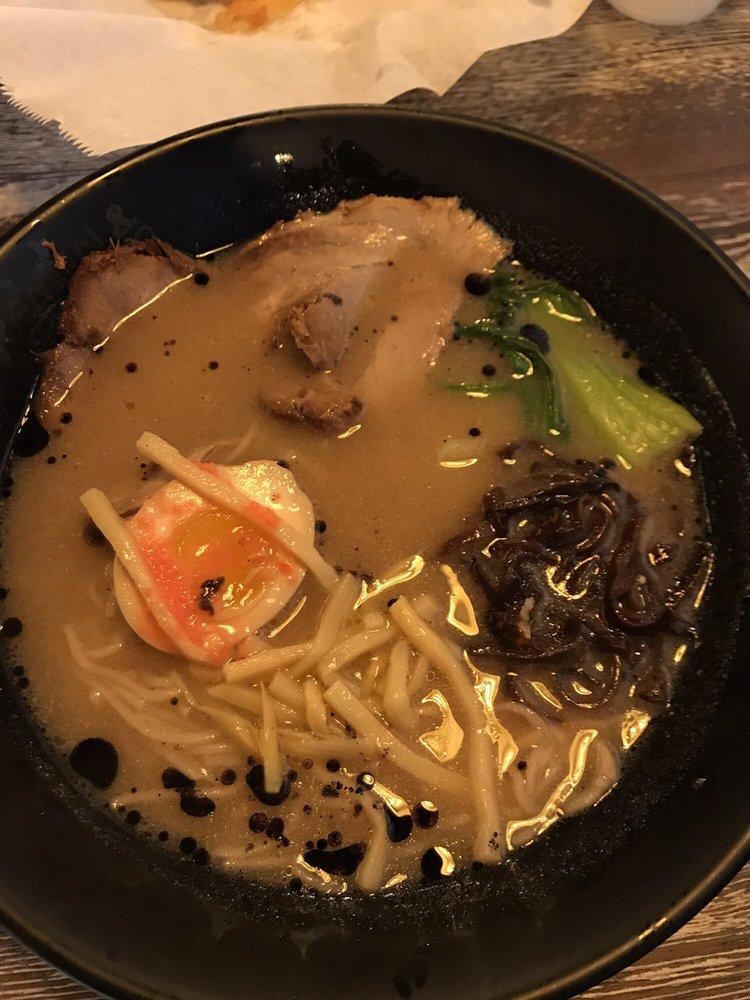 Food from Zen Ramen and Sushi Burrito