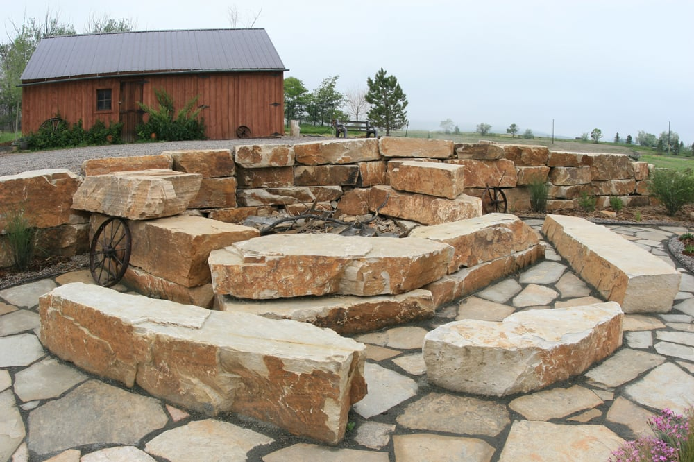 Building A Natural Stone Fire Pit