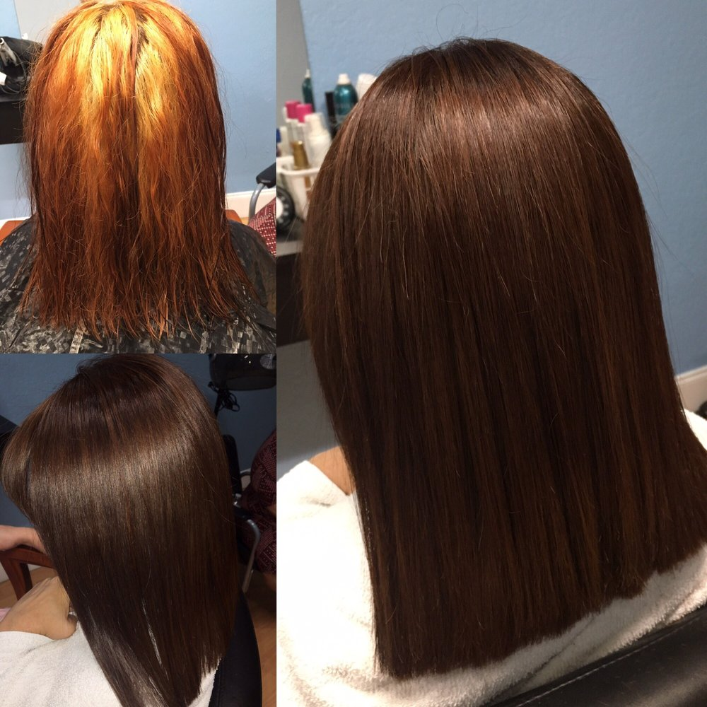 Different Client Updated Hair Color From Black To Medium Blonde