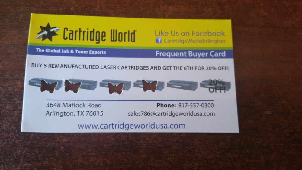 Cartridge World - Office Equipment - 3648 Matlock Rd, Arlington ...