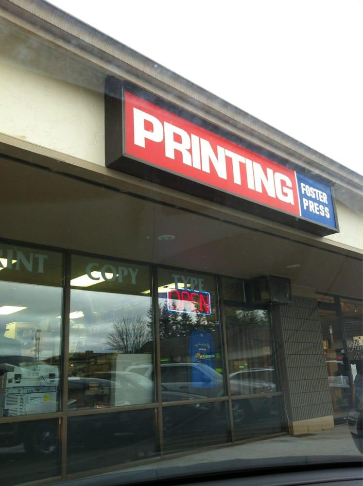 Foster Press: 430 91st Ave NE, Lake Stevens, WA
