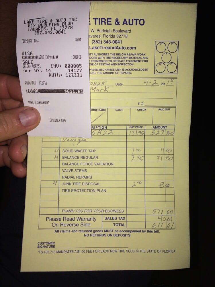Auto Repair Shop Near Me >> Lake Tire & Auto - Tires - 812 W Burleigh Blvd, Tavares ...