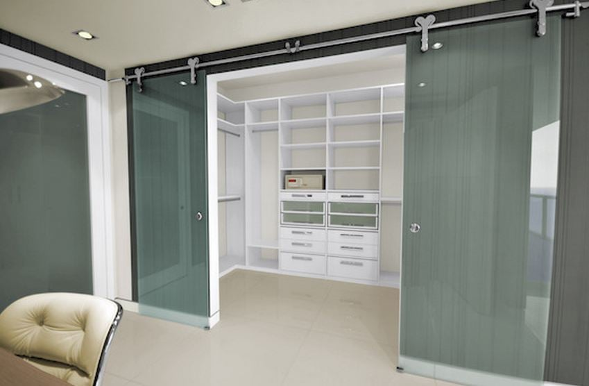 Photo Of Armadi Closets   Miami, FL, United States. Hanging Glass Doors And