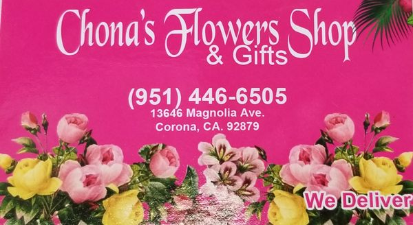 Chonas Flower Shop Gifts 13646 Magnolia Ave Corona Ca Gift Shops