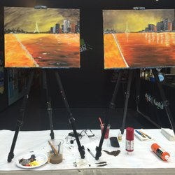 Wine and canvas 30 photos paint sip 8320 pineville for Sip and paint charlotte nc