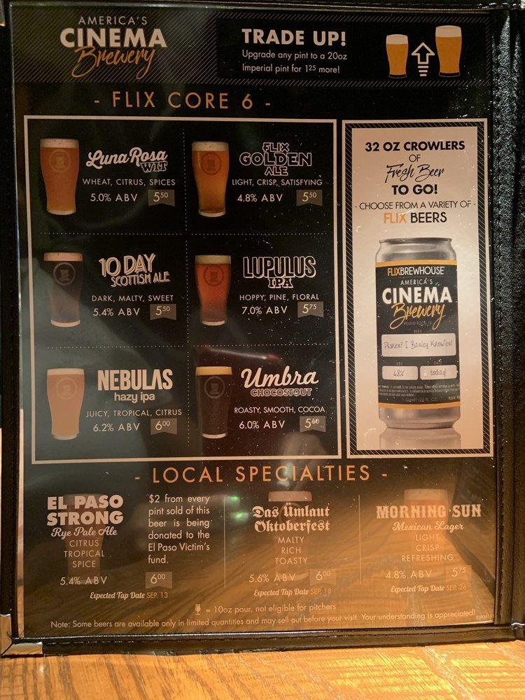 Flix Brewhouse: 6450 Desert Blvd N, El Paso, TX