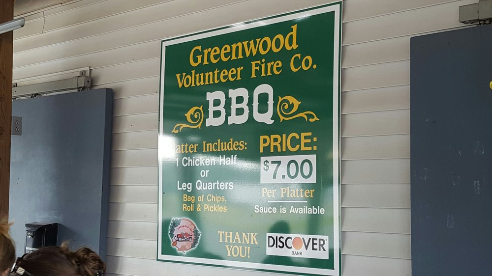 Greenwood Volunteer Fire Co BBQ: 12611 Sussex Hwy, Greenwood, DE
