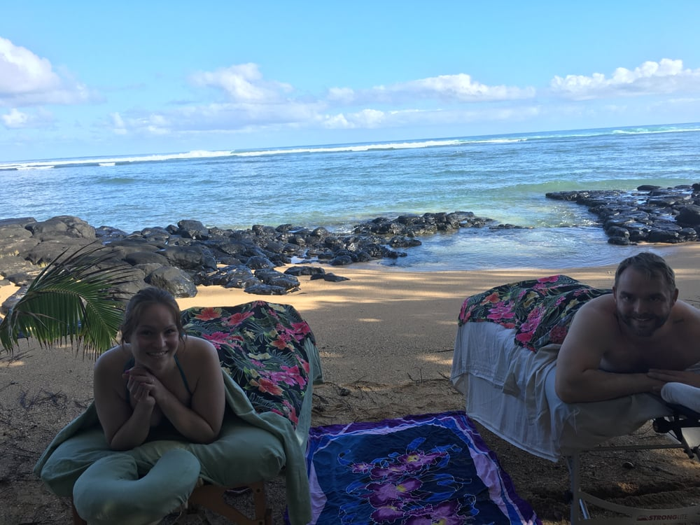 Honeymooners At Our North Side Beach Massage Location