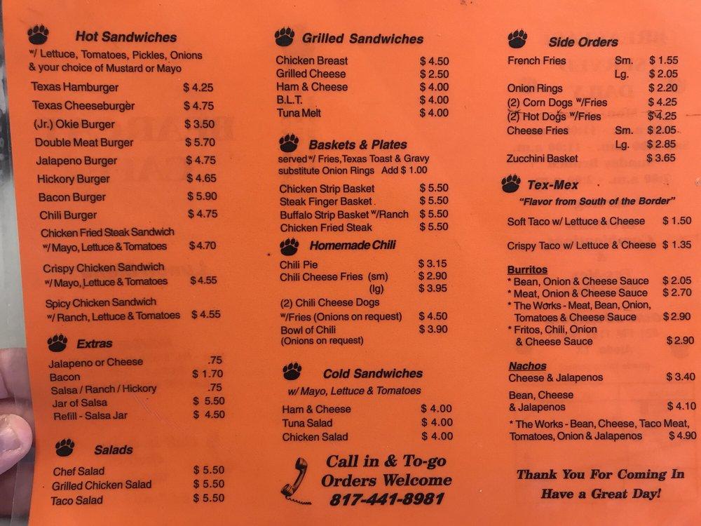 Bearcat Cafe: 421 N Fm 1187, Aledo, TX