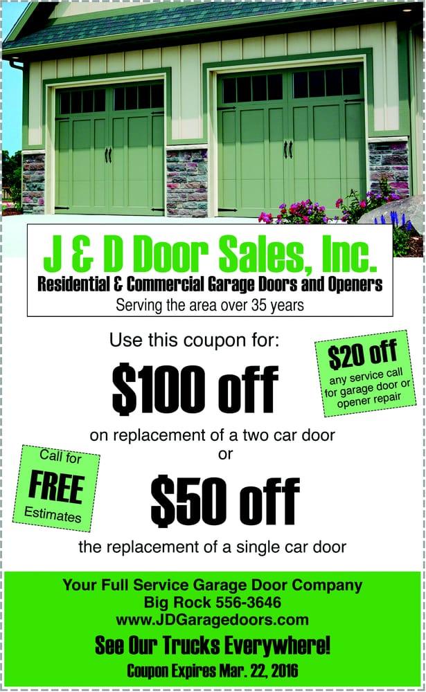 J & D Door Sales: 200 S 2nd Dr, Big Rock, IL