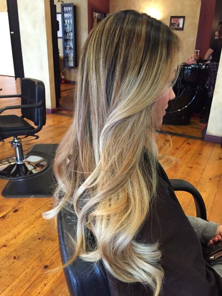 High contrast balayage highlight blending dark roots into ash photo of hair by cynthia encino ca united states high contrast balayage pmusecretfo Gallery