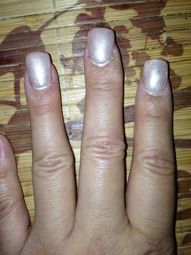 Messy nail polish application and puffy acrylic! - Yelp