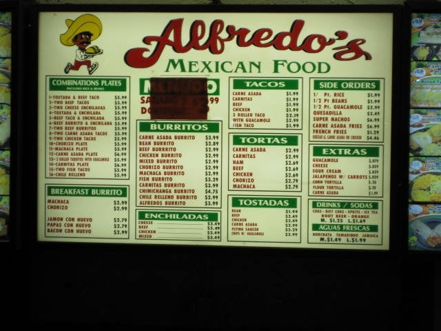 Alfredo's Mexican Food, Oceanside, CA - California Beaches