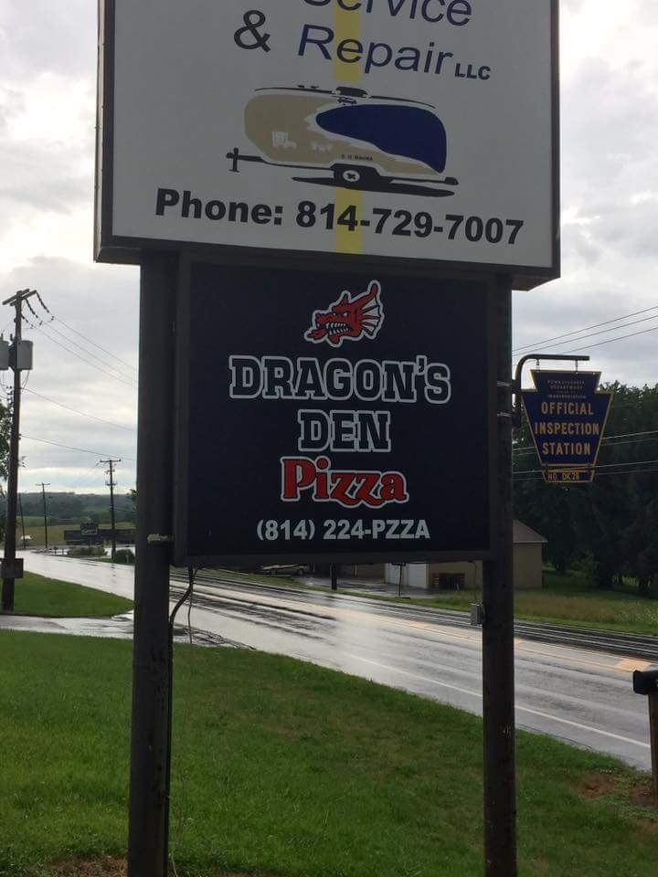 Dragons Den Pizza: 3790 Woodbury Pike, Roaring Spring, PA