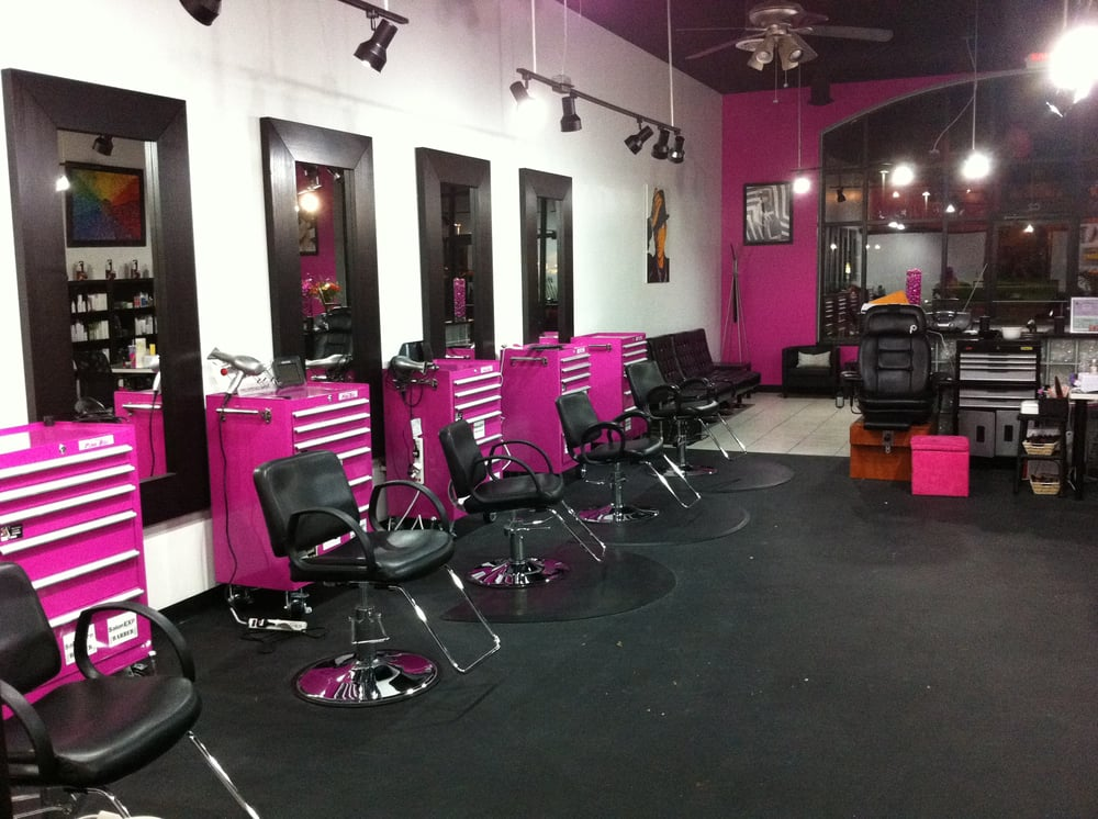 """O Styles Hair Salon: Our Design Area Includes 8 """"pink Toolbox"""" Stations As Well"""
