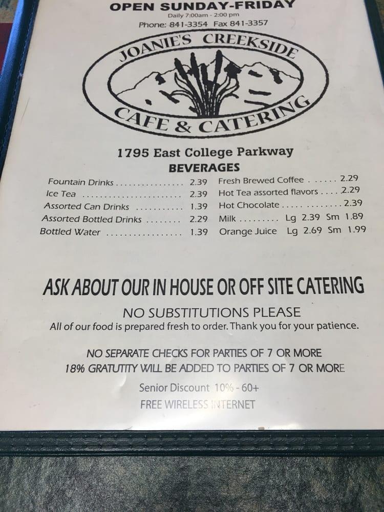 Joanie Creekside Cafe Carson City Nv