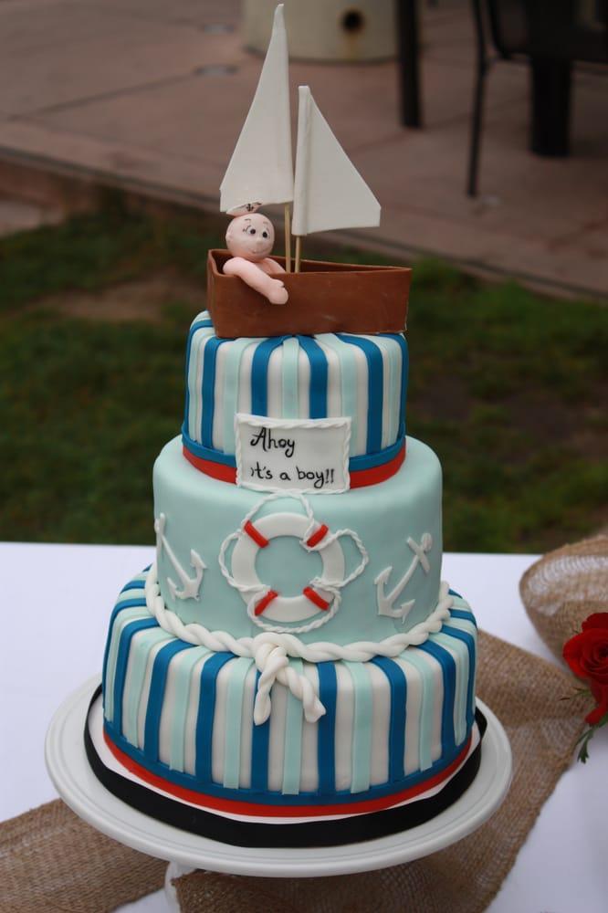 Photo Of Anyau0027s Cakes   Belmont, CA, United States. Nautical Baby Shower  Cake