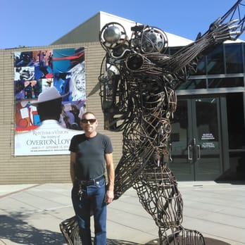 Photo of California African American Museum - Los Angeles, CA, United States. Steel wire statue