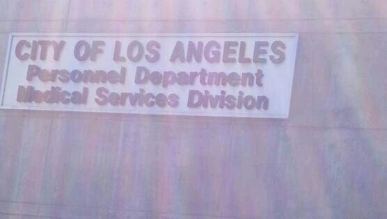 City of Los Angeles Personnel Department 700 E Temple St Los