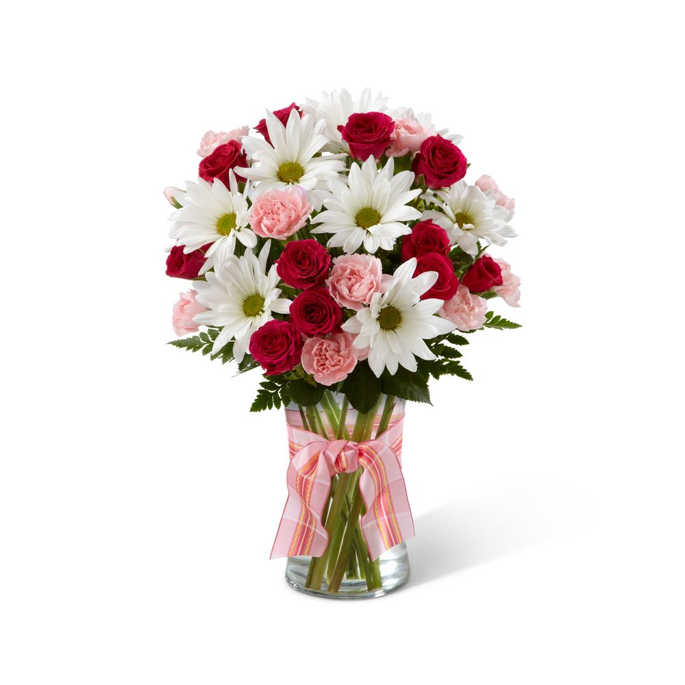 pretty pink flowers in basket - yelp