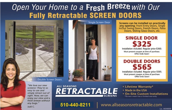 Photo For All Seasons Retractable Screens
