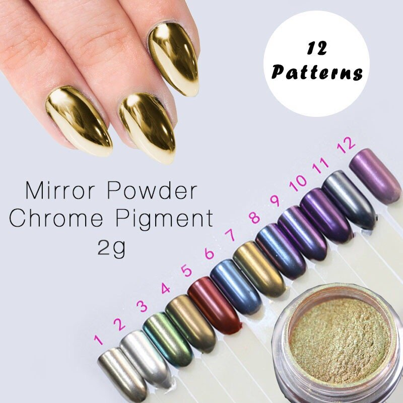 We also have chrome nail powder! Works great on acrylics or real ...