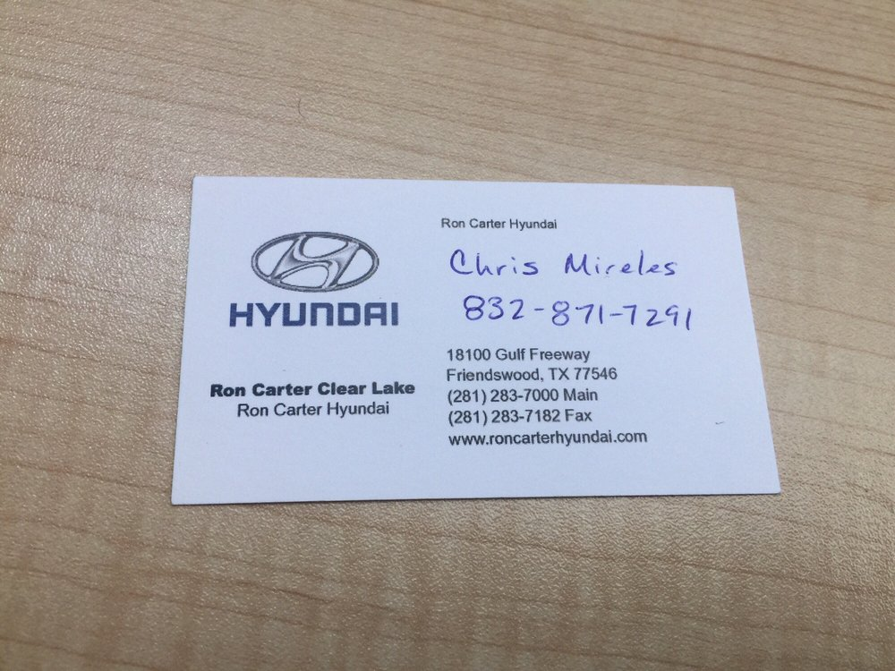 Ron Carter Hyundai >> Come See This Guy Yelp