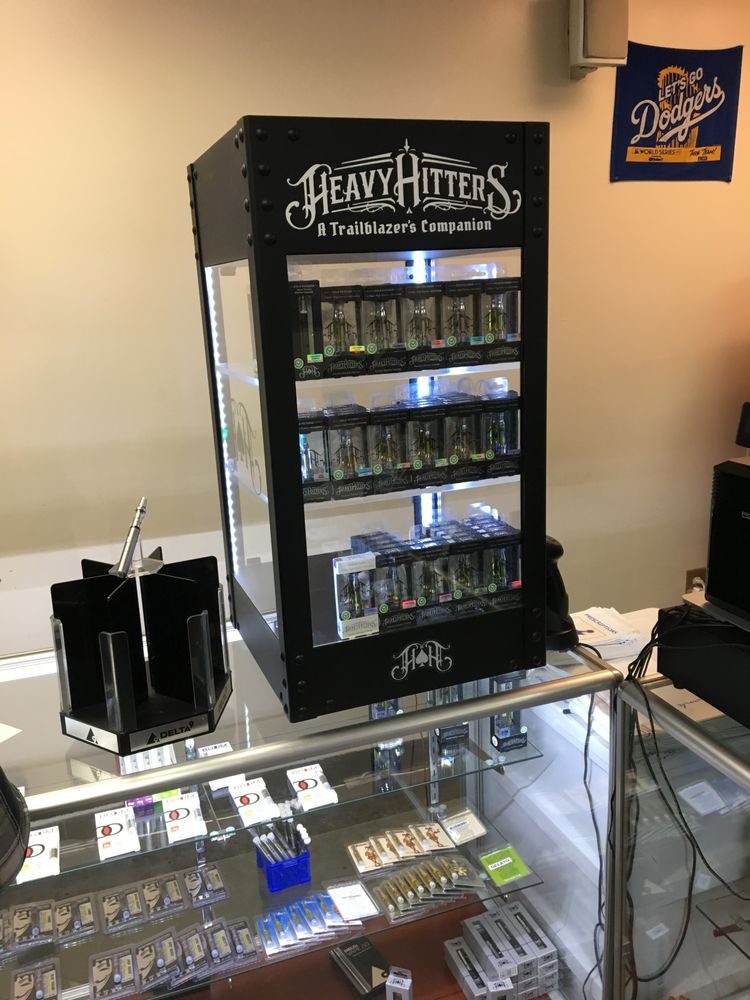 Really cool Heavy Hitters vape cartridge display  - Yelp