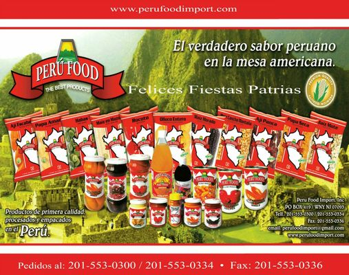 Peru Food Imports - Imported Food - West New York, NJ
