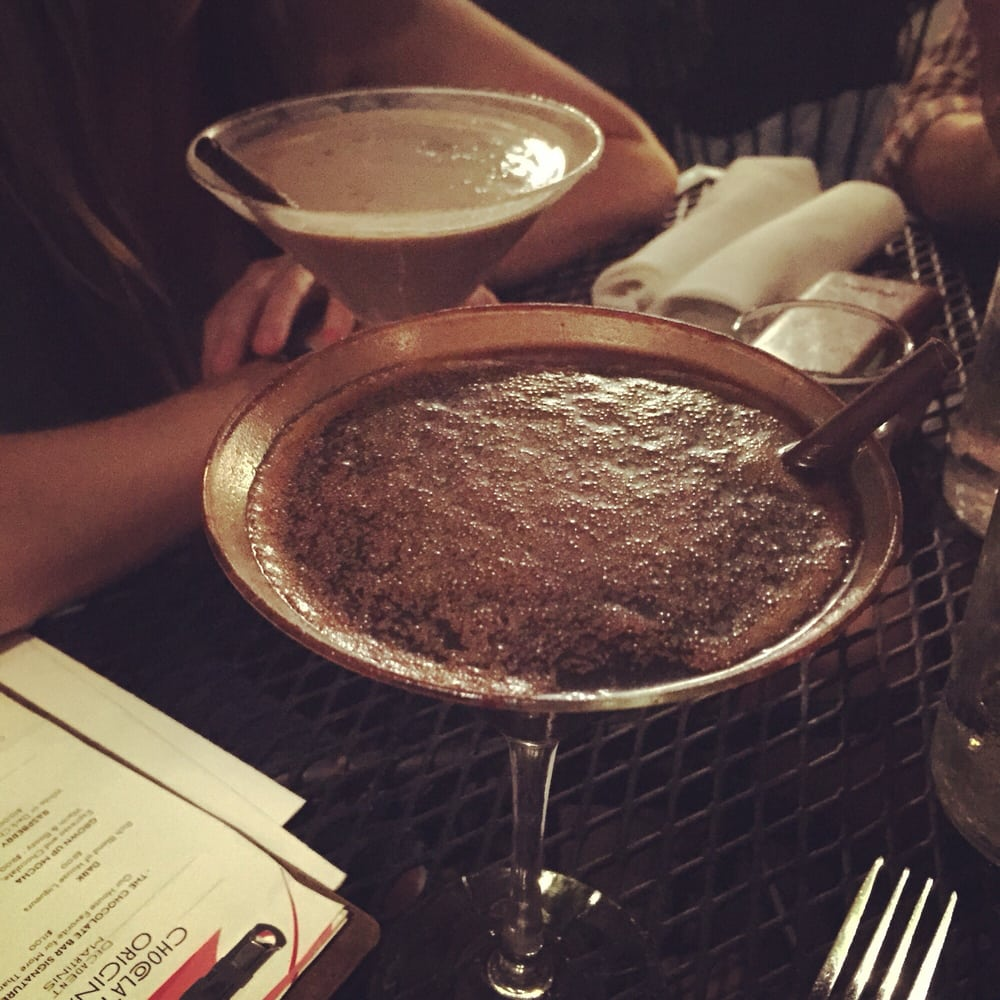 Dark chocolate martini and milk chocolate martini with our ...