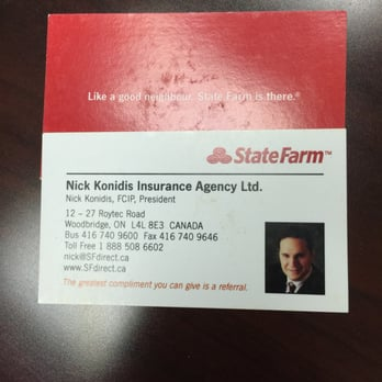 Nick konidis state farm insurance agent insurance 12 27 photo of nick konidis state farm insurance agent woodbridge on canada colourmoves