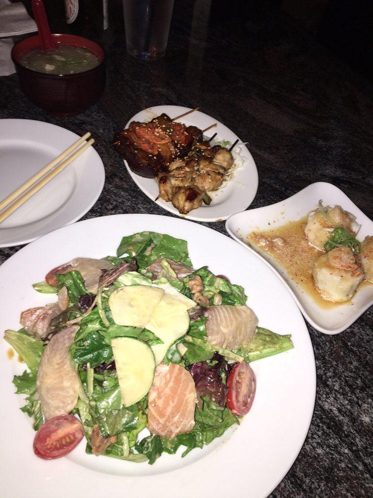 Sashimi Salad! Shumai!