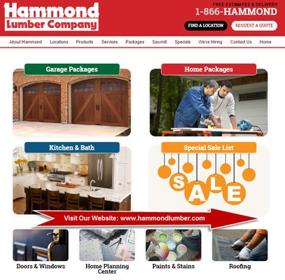 Hammond lumber company get quote hardware stores for Home hardware garage packages cost