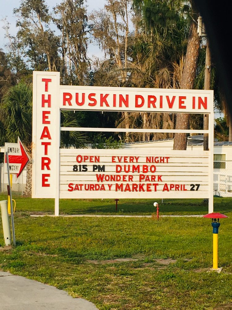 Ruskin Family Drive-In Theater: 5011 US Hwy 41 N, Ruskin, FL