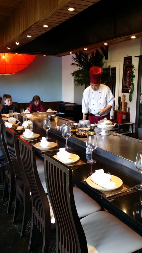 Teppan Yaki Table Chef Cooks Your Meals Right In Front Of You Yelp - Teppan table