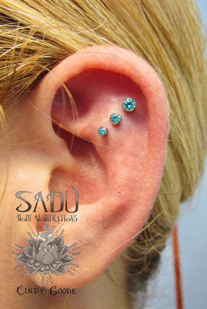 Photo Of Sadu Body Piercing Modifications Charlotte Nc United States Triple