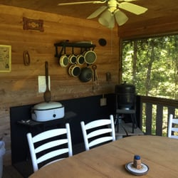 Photo Of Wildwood Cabins Jamestown Tn United States Walnut Screened In Porch