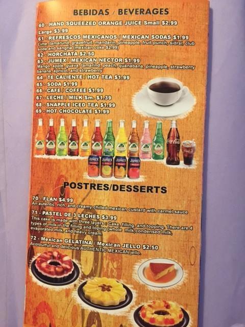Sol Mexican Restaurant Menu