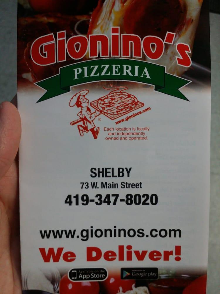 Gionino's Pizzeria: 73 W Main St, Shelby, OH