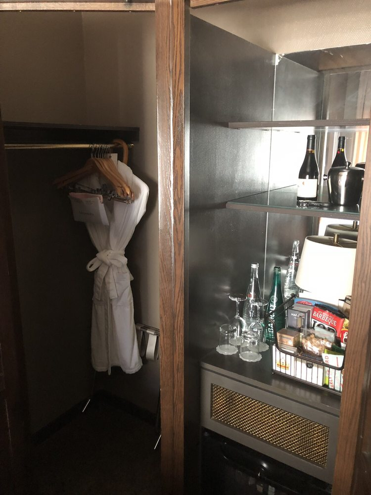 Closet With Robe, Umbrella, Full Sized Ironing Board And ...